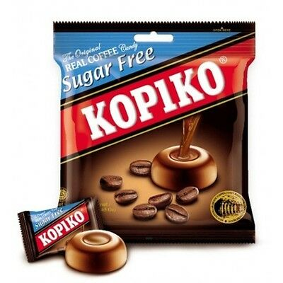 5 Packs x 75g KOPIKO *SUGAR FREE* Coffee extract hard Candy Strong & Rich coffee