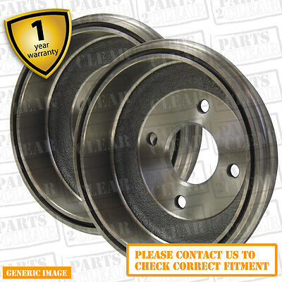 Citroën Saxo 1.6 VTL,VTR 87bhp Rear Brake Drums Pair Kit Set 180mm Bendix Sys