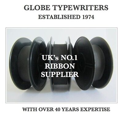 3 x 'ADLER UNIVERSAL 20' *BLACK* TOP QUALITY *10M* TYPEWRITER RIBBONS TWIN SPOOL