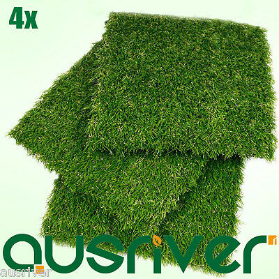 Premium 4X Outdoor Artificial Natural Look Grass Synthetic Turf Fake Lawn Garden