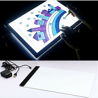 A4 LED Stencil Board Light Box Artist Thin Art Tracing Drawing Copy Plate Table