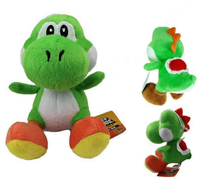 "Super Mario Bros 7"" Green Yoshi Plush Toy Kids Soft Toy Doll Birthday Gift IB"
