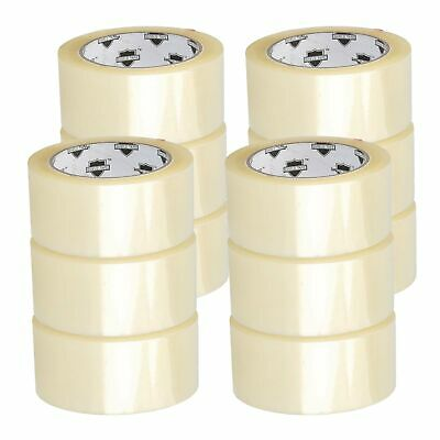 "12 Rolls Carton Sealing Clear Packing/Shipping/Box Tape - 2"" x 110 Yards"