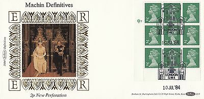 (89568) GB Benham FDC D15 2p New Perforation - London SW1 10 July 1984 NO INSERT