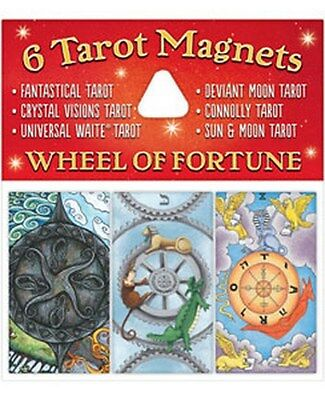NEW 6 Tarot Magnets Wheel of Fortune