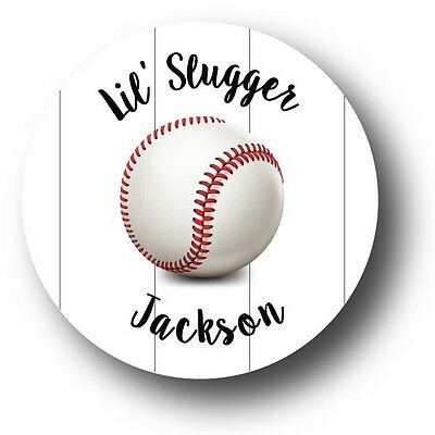 30 Baseball Baby Shower Personalized Stickers - Lil' Slugger, All Star