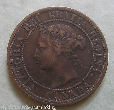 1882 Large Cent * Canadian Coin * Queen Victoria
