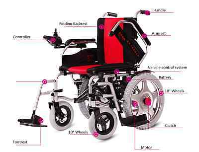 Electric Foldable Wheelchair Scooter Medical Vehicle Post to Your Local Air Port