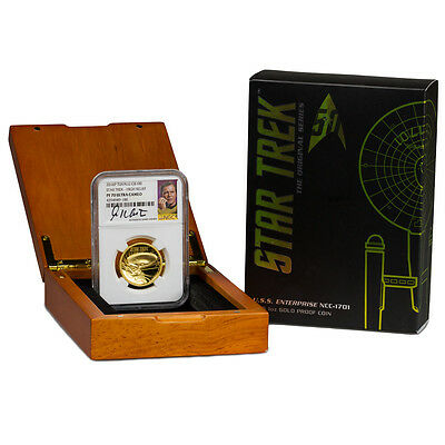 2016-P $100 1 oz. HR Gold Star Trek Enterprise NGC PF70 UC (Shatner) SKU41932