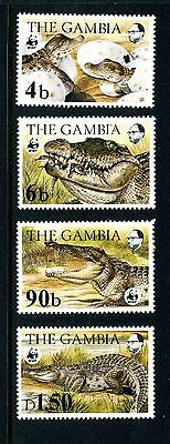 Gambia 1984 Crocodile World Wildlife Fund Stamp Set