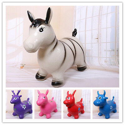 PVC inflatable animals Jumping horse Jumping cattle Jumping deer Soft Kid's toys