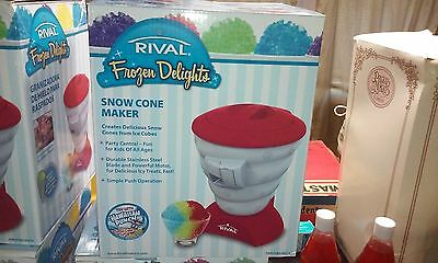 Rival Frozen Delights Snow Cone Maker NEW In box FRRVISBZ-RED3