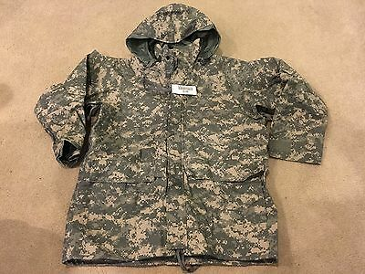 ECWCS GEN II Cold Wet Weather Parka Universal ACU Camo Size Large-Regular NWT