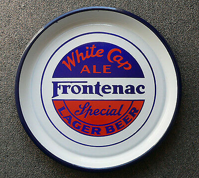 Antique FRONTENAC Ale/beer Montreal, Quebec porcelain beer tray FREE SHIPPING!