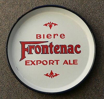 Rare FRONTENAC Export Ale/beer Montreal, Quebec porcelain beer tray FREE SHIP!