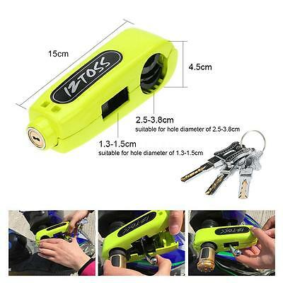 Iztoss Motorcycle Scooter Handlebar Throttle Grip Lock Security Lock Green G6Z0