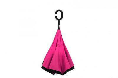 Modern Upside Down Reverse Umbrella C-Handle Double Layer Inside-Out  New