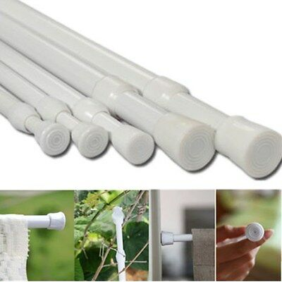 Spring Loaded Extendable Telescopic Net Voile Tension Curtain Rod Pole Rods Rail