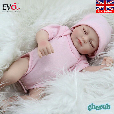 "11"" Realistic Handmade Real Looking Newborn Baby Vinyl Silicone Reborn Doll Girl"