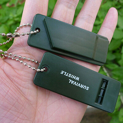Emergency Survival Whistle Rescue Tool Signal Sound Outdoor Camping Hiking SE