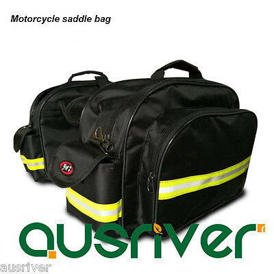 New Motorcycle Saddle Bag Bicycle Side Luggage Bags Travelling Reflective Strip