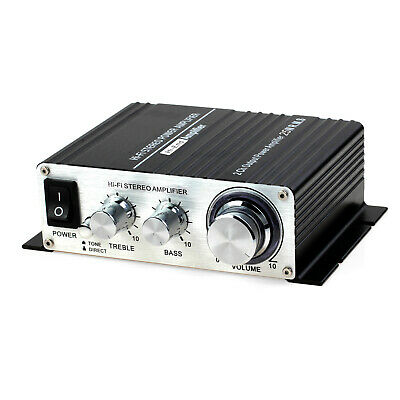 Hi-Fi Audio Stereo Amplifier AMP 2.1CH Super Bass HX-168A with AC Power Adapter