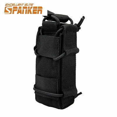 MOLLE Tactical Open Top Single Rifle Pistol Mag Pouch Magazine Bag Hunting