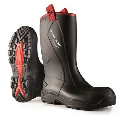 Dunlop Purofort + Rugged Full Safety Welly Work Boot Construction Wellington