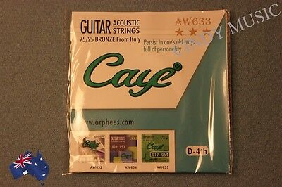 Brand New single Acoustic Guitar String D-4