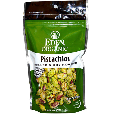 New Eden Foods Organic Pistachios Shelled & Dry Roasted Lightly Sea Salted Foods