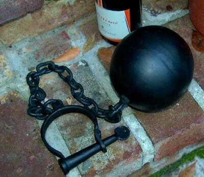 Iron Antique Style Wedding Ball and Chain Gift Groom Bride Slave Jail Gang