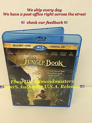 The Jungle Book (Live Action) 2016 Blu ray + Digital HD NO DVD! PLEASE READ