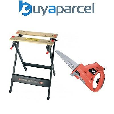 Black Decker KS890 Scorpion Hand Reciprocating Saw Jigsaw & WM301 Work Bench