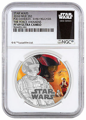 2016 Niue $2 1 oz. Silver Star Wars Force Awakens - Poe NGC PF69 UC ER SKU42756