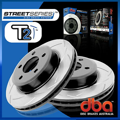 Front Pair DBA T2 Slotted Brake Rotor DBA2107S Fit Ford Territory SX SY SZ 04-ON