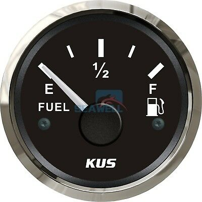 KUS Fuel Level Gauge Boat/Marine Fuel Tank Level Gauge 12/24V 52mm 240-33 ohms