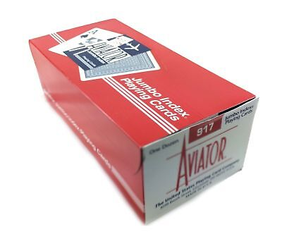 AVIATOR Playing Cards #917 Jumbo Poker Cards 12 Decks 6 Blue, 6 Red Brand New