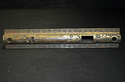 1900's Antique Victorian Decorative Pocket Sliding Door Handle Stamped Brass • CAD $157.50