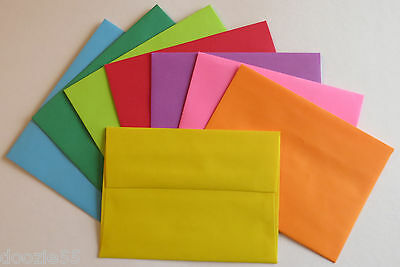 A6 Color Envelopes 4.75 x 6.5 4x6 Blue Pink Purple Orange Red Green Yellow PE29