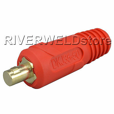 1pcs Quick Fitting Euro Style Cable Connector-Plug DKJ35-50 315A with Red Color