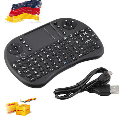 Mini 2,4Ghz Tastatur Maus kabellos Wireless Air Mouse f.Android/Smart TV USB &7