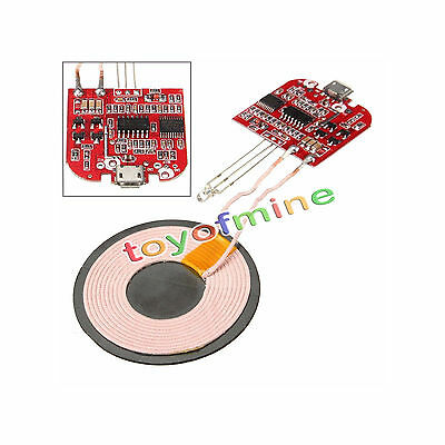 Qi Wireless Charger PCBA Circuit Board With Coil Wireless Charging DIY YS
