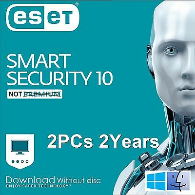 ESET Smart Security 9.0 / 2016 /  2 Users 2 Years Download Edition for Win & Mac