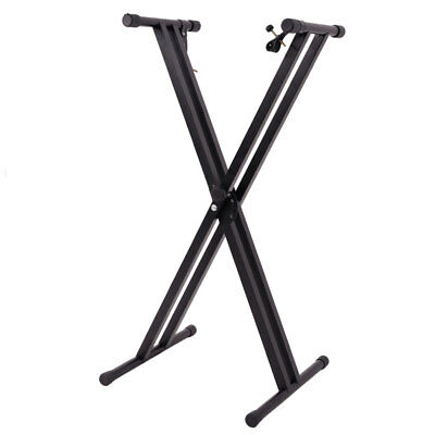 Folding Metal Music Keyboard Electric Piano Dual Tube X-Stand Standard Rack New