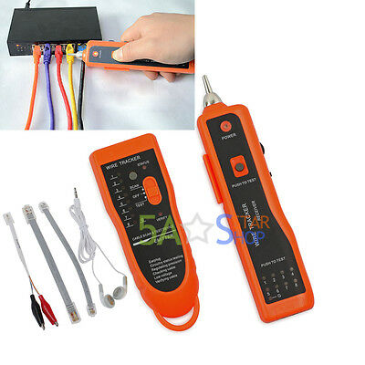 Telephone Network Cable Wire Tracking Tracker LAN Cable RJ45/ 11 Toner Tester AU