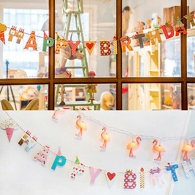 2 Styles Cute Garland Design Bunting Banners for Happy Birthday Party Decor