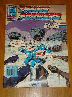 Transformers British Weekly #278 Marvel Uk Comic 1990