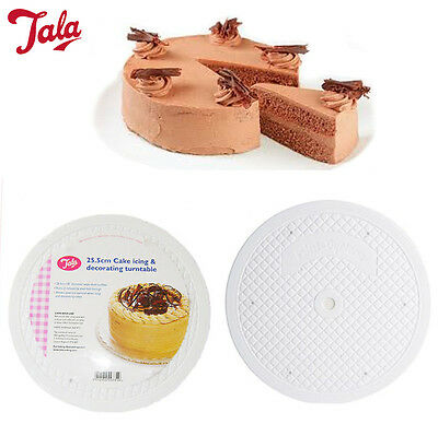 Icing Turntable Cake Decor 360 Rotating TALA White 25.5CM Flat Turn Table Stand