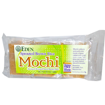 New Eden Foods Sprouted Brown Rice Mochi Gluten Free Whole Grain Kosher Foods