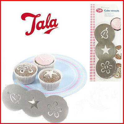 3 Cake Stencil Set Embossing Tool Decorating Template Spraying Home Mold Topper